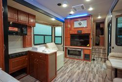 toy hauler hard rock cabinets entertainment center