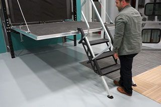 toy hauler ramp door stairs