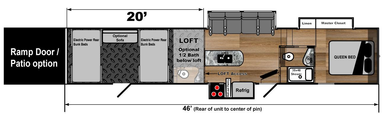 Great Toy Hauler 5th Wheel Floorplan 4620W